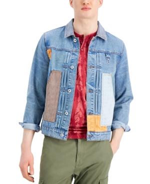 Men's Stretch Patchwork Denim Jacket