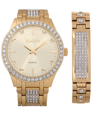 Men's Ipg Two-Tone Strap Watch and Matching Bracelet Set