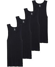 Men's Cotton A-shirt Tank Top, Pack of 4