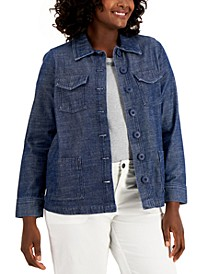 Denim Button-Front Jacket, Created for Macy's