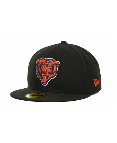 New Era Chicago Bears NFL Black Team 59FIFTY Cap