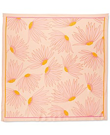 Falling Flowers Silk Square Scarf