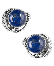 Sterling Silver Posts in Lapis, Mother of Pearl, Orange Spiny Oyster and Purple Spiny Oyster