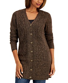Petite Knit Button Cardigan, Created for Macy's
