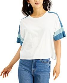 Juniors' Colorblocked T-Shirt