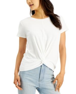 Juniors' Twist-Front T-Shirt