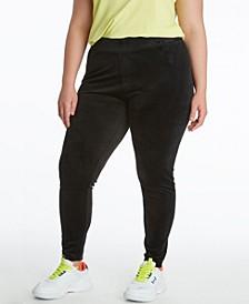 Plus Size Velour Leggings