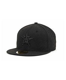 New Era Houston Astros Black on Black Fashion 59FIFTY Cap