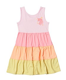 Toddler Girls Color Blocked Tiered Dress