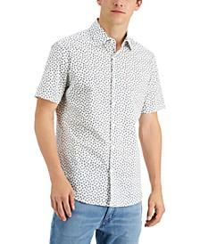 Men's Slim-Fit Stretch Daisy-Print Shirt