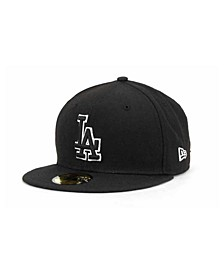 Los Angeles Dodgers Black and White Fashion 59FIFTY Cap