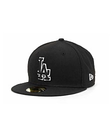 New Era Los Angeles Dodgers Black and White Fashion 59FIFTY Cap