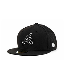 New Era Atlanta Braves Black and White Fashion 59FIFTY Cap