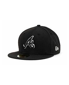 New Era Atlanta Braves Black and White Fashion 59FIFTY Cap
