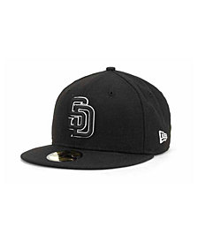New Era San Diego Padres Black and White Fashion 59FIFTY Cap
