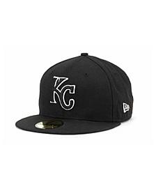 Kansas City Royals Black and White Fashion 59FIFTY Cap