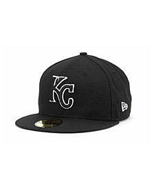 New Era Kansas City Royals Black and White Fashion 59FIFTY Cap