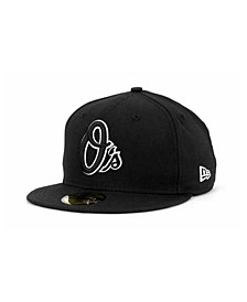 Baltimore Orioles Black and White Fashion 59FIFTY Cap