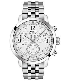 Men's Swiss Chronograph PRC 200 Stainless Steel Bracelet Watch 43mm