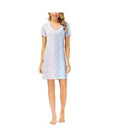 Women's Printed V-Neck Sleepshirt