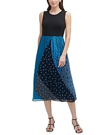 Printed-Skirt Dress
