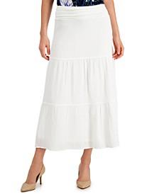 Tiered Gauze Pull-On Skirt