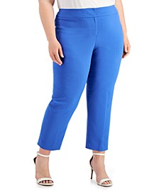 Plus Size Cropped Ankle Pants