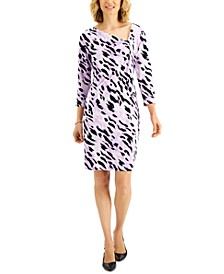 Printed Pullover Shift Dress, Created for Macy's