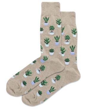 Men's Potted Succulents Crew Socks