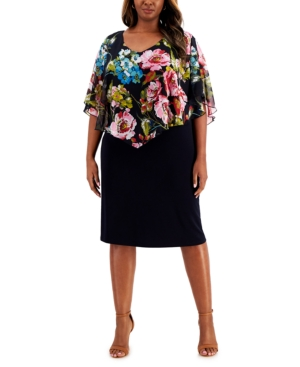 Plus Size Popover Sheath Dress
