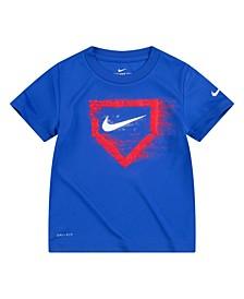 Toddler Boys Swoosh Chalk Home Plate Short Sleeve T-shirt