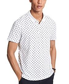 Men's Printed Paisley Polo Shirt