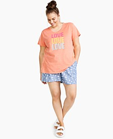 Plus Trendy Love Graphic T-Shirt