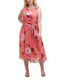 Plus Size Keyhole Halter Dress