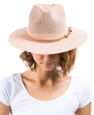 Women's Suede Band Panama Hat