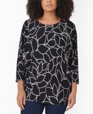 Women's Linear Floral Jersey Top