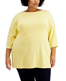 Plus Size Boat-Neck Tunic, Created for Macy's