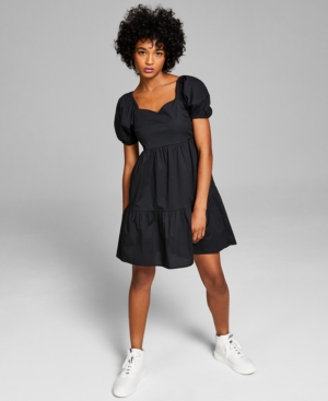 Women's Puff-Sleeve Babydoll Dress