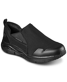 Men's Work: Arch Fit Slip Resistant Slip-On Work Sneakers from Finish Line