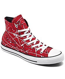 Men's Chuck Taylor All Star Paint Splatter High Top Casual Sneakers from Finish Line