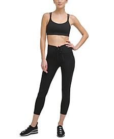 Sport Women's Cropped Lace-Up Leggings