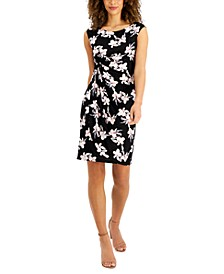 Petite Side-Tab Ruched Sheath Dress