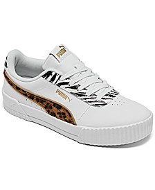Women's Carina Animal Mix Platform Casual Sneakers from Finish Line