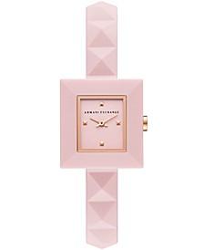 Women's Pink Silicone Strap Watch 26mm