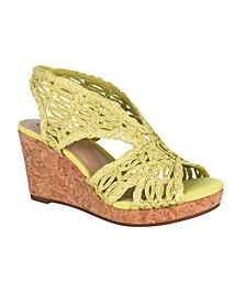 Terinee Woven Raffia Wedge Sandal