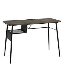 Metal Storage Shelf Writing Desk