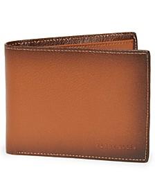 Men's Burnished Leather Bifold Wallet