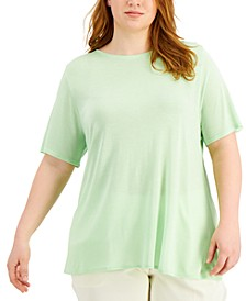 Plus Size Modal Crewneck T-Shirt, Created for Macy's