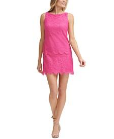 Petite Lace Shift Dress