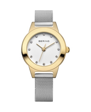 Women's Classic Silver-Tone Stainless Steel Mesh Strap Watch 25mm